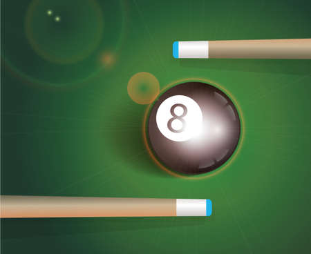 8 ball pool: The eight ball . Billiard Background