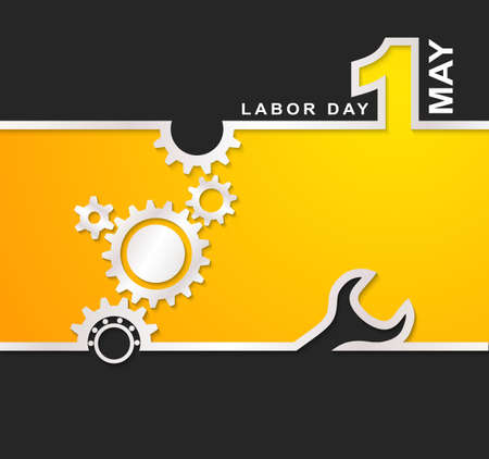 1 May international labor day background Illustration