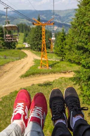 chairlift: Couple in Chairlift