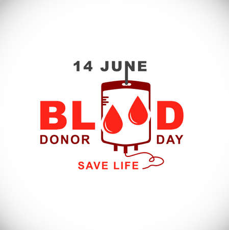 donor: World Blood Donor Day.14 June Illustration