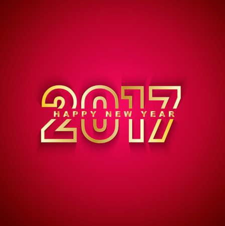 celebração: 2017 Feliz Ano Novo Ilustração