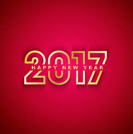red and gold: 2017 Happy New Year