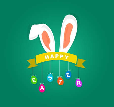 Happy Easter Background With Bunny
