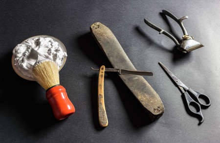 Old Barber Tools Stock Photo