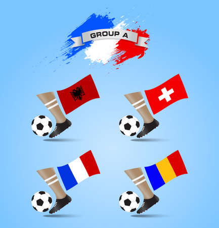 shootout: France Soccer Championship Final Tournament Group A Illustration