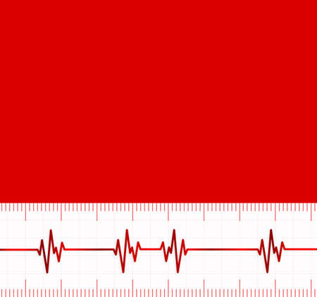 oscillate: Heart beats cardiogram.Useful as medical background Illustration