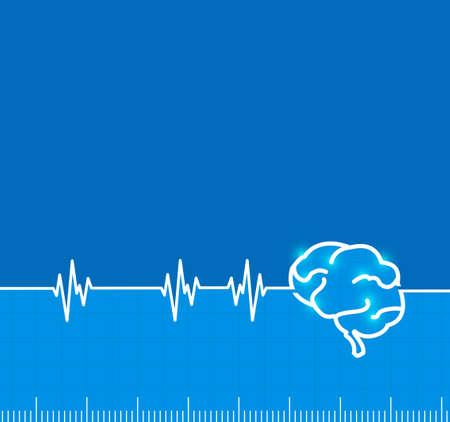 actividad de impulso electromagnético del cerebro