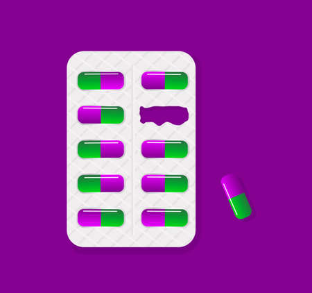 a tablet blister: Blister pack of tablets lack of pill package.Tablet pills medical drug pharmacy care and tablet pills