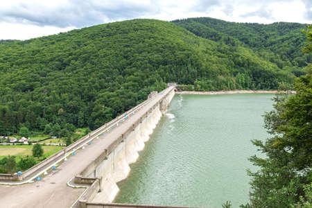 The dam on Lake Poiana Uzului, Bacau, Romania