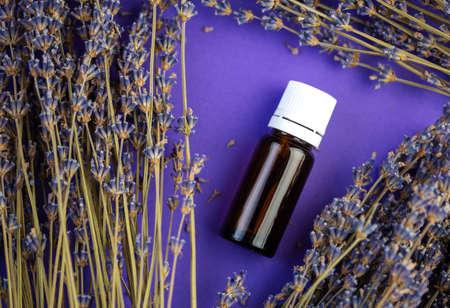 Lavender aromatherapy, Lavender oil bottle, Essential oil, natural remedies Фото со стока