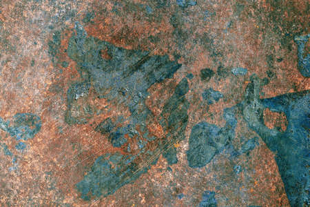 Metal surface with detailed traces of corrosion, rust and scratches