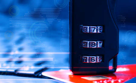 security, encrypting, banking global concept