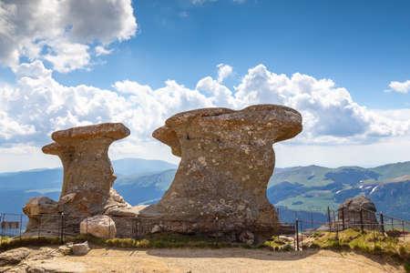Babele Peak - natural erosion of the rocks in Bucegi Natural Park, Romania