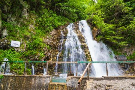 Waterfall Urlatoarea from Bucegi Natural Park, Romania