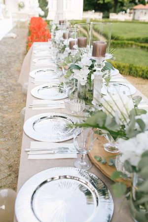 Wedding dining table. Rustic wedding.