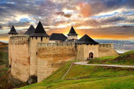 middleages: View of Hotyn fortress, Western Ukraine