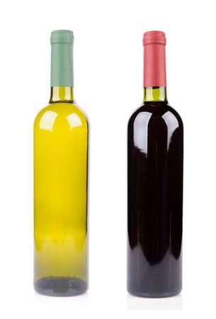 aligote: Bottle of wine isolated on white background