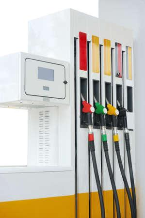 Closeup petrol pump gas station Zdjęcie Seryjne