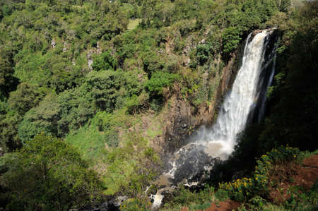aberdares: Big Thomsons Falls. Africa, Kenya