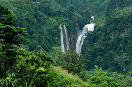 Beautiful waterfall in Sri Lanka photo