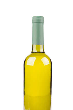 aligote: Bottle of wine isolated on white background