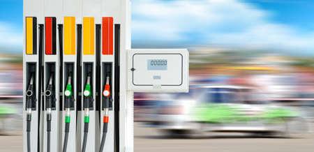 bomba de gasolina: Estación de servicio de la bomba de gasolina Primer