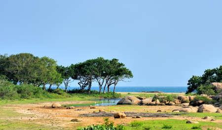 yala: Ocean view from Yala National Park in Sri Lanka