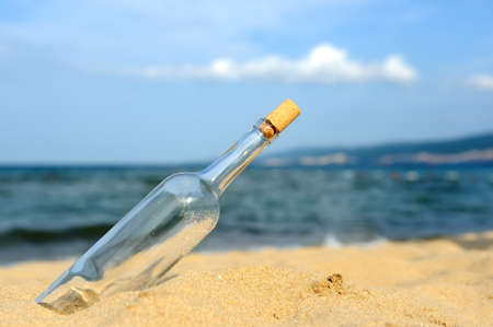 message in a bottle: Message in the bottle from ocean. Coming message concepts