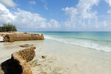 indian ocean: Beautiful beach and tropical ocean. Indian ocean