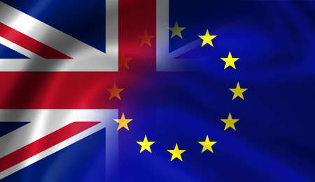 insecurity: Flags of the United Kingdom and the European Union