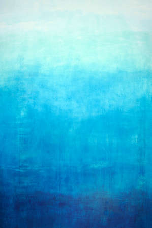 Hand drawn blue gradient background on wall Stockfoto
