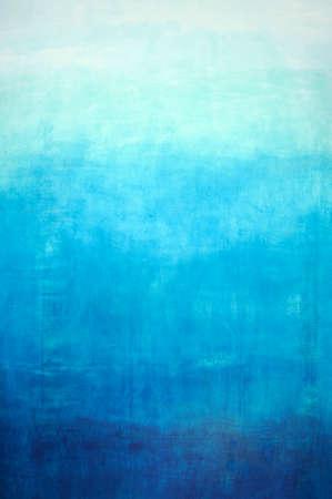 Hand drawn blue gradient background on wall Standard-Bild