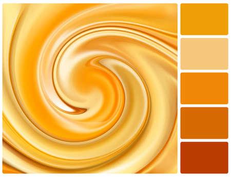 paleta de caramelo: Fondo abstracto del caramelo. Paleta de colores con muestras de color complementarias