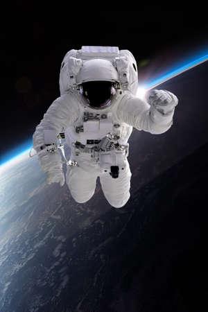 Astronaut at spacewalk. Stock Photo
