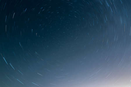The rotation of the stars around the North Star, Long exposure image
