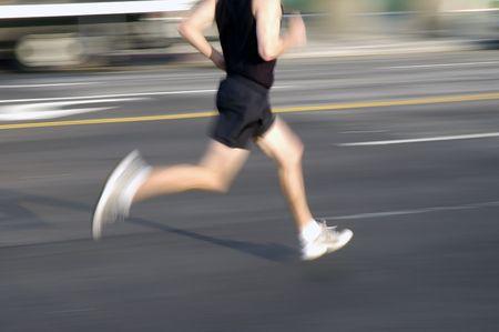 man running Banco de Imagens
