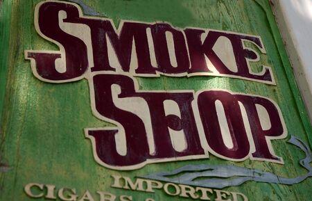 shop sign: smoke shop sign