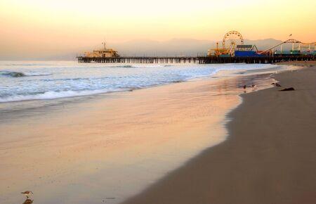 california beach: pier