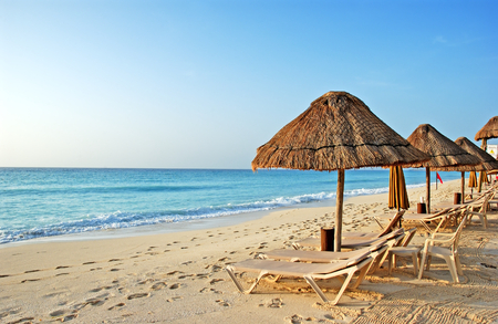 cayman islands: the beach in the caribbean