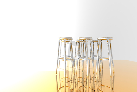3D render of bar stools photo