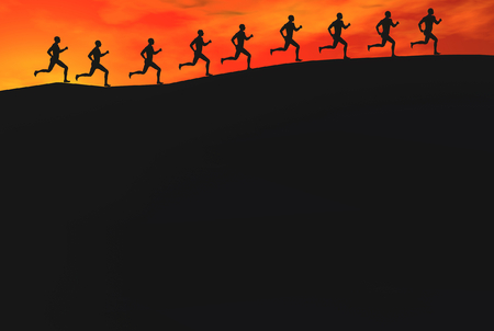 3D render of runners Stock Photo - 1585350