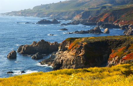 sur: the California coast by Big Sur Stock Photo