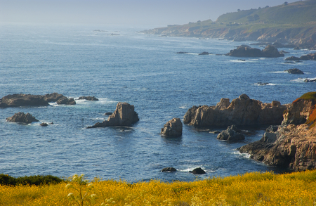 mcway: the California coast by Big Sur Stock Photo