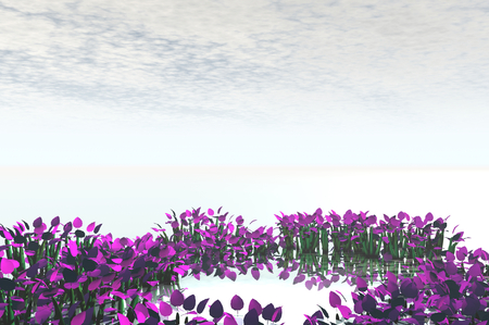 3D render of flowers