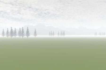 3D render of trees