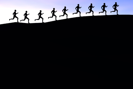 3D render of runners Stock Photo - 1716141