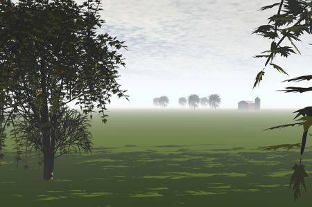 3D render of agricultural landscape Stock Photo - 1716175