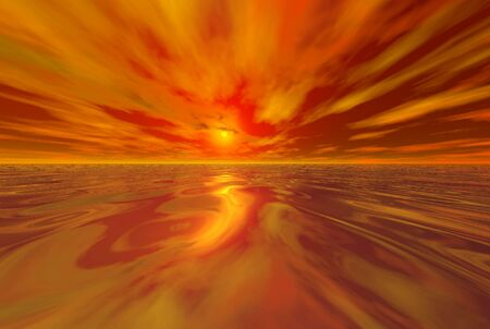 3D-render of the sunset