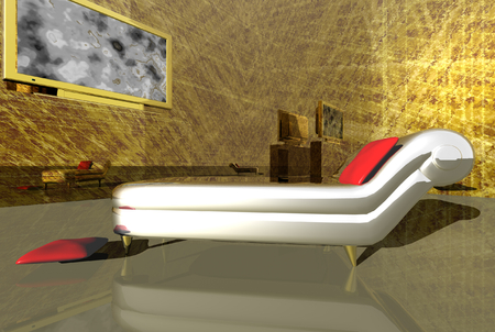 penthouse: 3D render of the penthouse Stock Photo