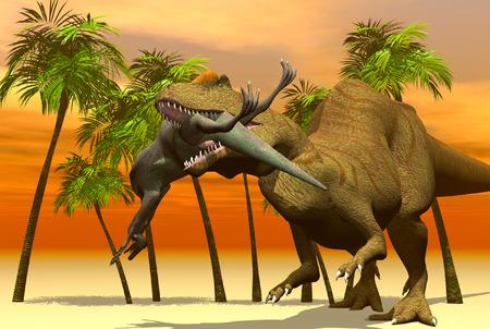3D render dinosaur